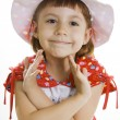 Fan little girl smiling. — Stock Photo #5251061