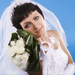 One happy and Beautiful bride — Stock Photo