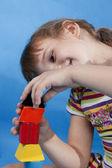 Little girl play. — Stock Photo
