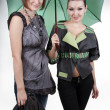 Stock Photo: Two different girl show fashionable stylish clothes
