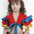 Little girl dancer. — Stock Photo