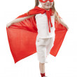 Superhero girl in a red — Stock Photo #5268034