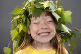 Portrait of the cheerful little girl — Stock Photo