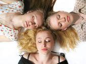 Three girls sleeping — Stock Photo