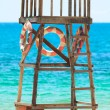Stock Photo: Lifeguard tower