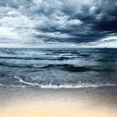 Beach at stormy day — Stock Photo