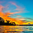 Maldives sunset - Foto Stock