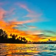 Maldives sunset - Stock Photo
