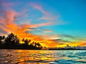 Maldives sunset — Stock Photo
