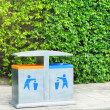 Two recycling bin - Foto Stock