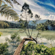 Telaga Warna lake - Stock Photo