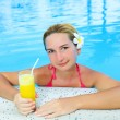 Woman in swimming pool — Stock Photo #4813625