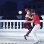 Couple dancing — Stock Photo
