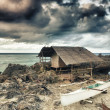 Fisherman hut — Stock fotografie
