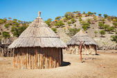 Huttes africaines traditionnelles, namibie — Photo