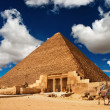 Egyptian pyramid - Stock Photo