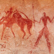 Stock Photo: Rock paintings of Tassili N'Ajjer, Algeria