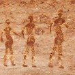 Rock paintings of Tassili N&#039;Ajjer, Algeria - Stock Photo
