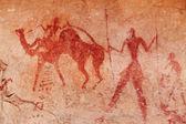 Rock paintings of Tassili N'Ajjer, Algeria — Stock Photo