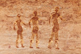 Rock paintings of Tassili N'Ajjer, Algeria — Stock Photo