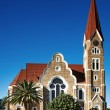 Lutheran church in Windhoek, Namibia - Stock Photo