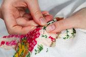 Fine needlework — Stock Photo