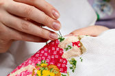 Cross-stitching — Stock Photo