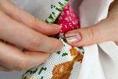 Cross-stitch — Stock Photo