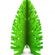 Symbolic Christmas tree 3d render — Stock Photo