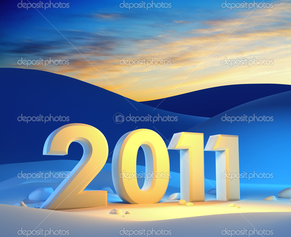 New year 2011, 3d render — Stock Photo #3927244