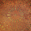 Arabic pattern at Alhambra palace in Granada, Spain - Stock Photo