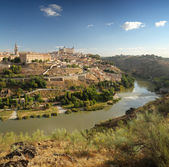 Panoramic view of Toledo in Spain — Stock Photo