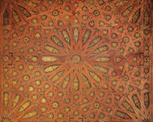 Arabic pattern at Alhambra palace in Granada, Spain — Stock Photo