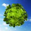 Small green planet - Stock Photo