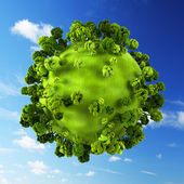 Small green planet — Stock Photo