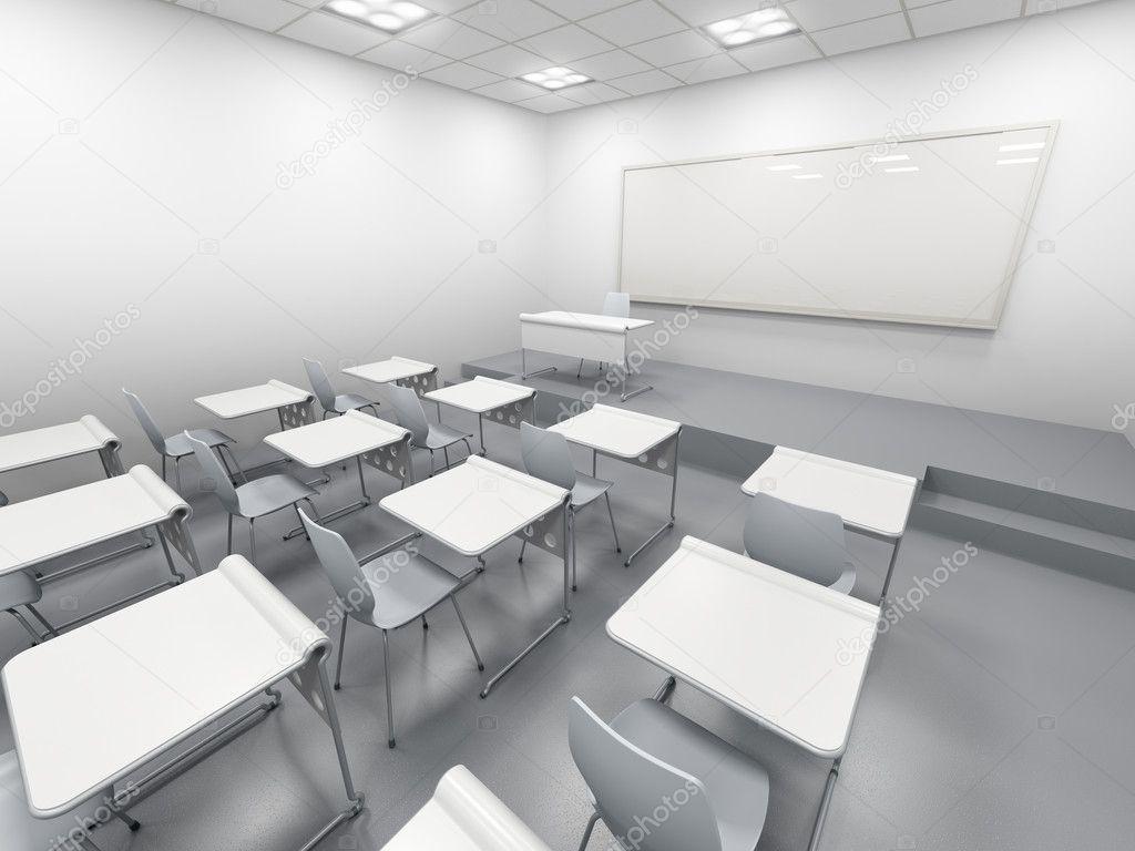 Modern White Classroom ~ Modern white classroom — stock photo auriso