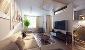 Modern interior 3d — Stock Photo