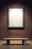 Blank frame in the gallery — Stock Photo