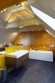 Modern interior design of a bathroom — Stock Photo