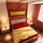 Modern style bedroom interior 3d — Stock Photo #5001022