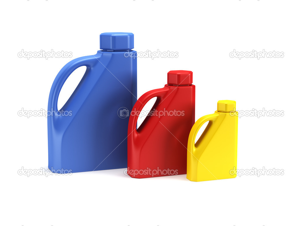 Motor Oil Bottle Isolated 3d Rende Stock Photo Auriso