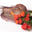 Roses and hat orange — Lizenzfreies Foto