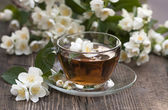 Cup of tea jasmine — Stock Photo