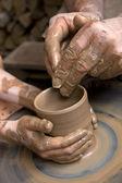 Manufacture of ceramic — Stock Photo