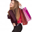 Beautiful woman with shopping bags — Foto de Stock