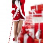 Beautiful sexy girl wearing santa claus clothes — Stock Photo #4039922