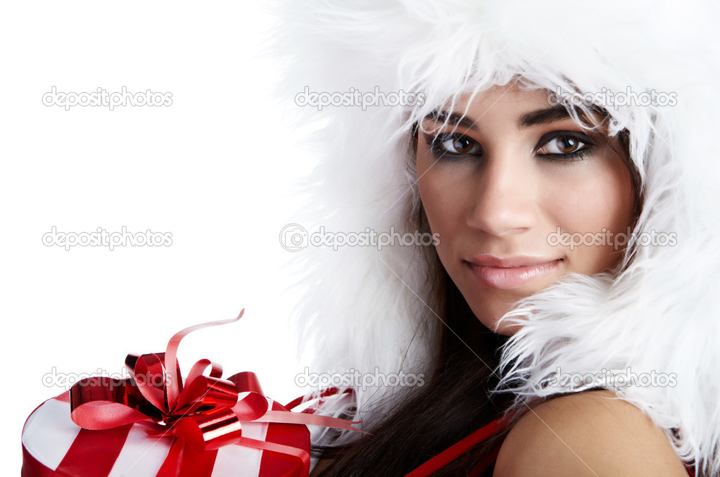 Beautiful sexy girl wearing santa claus clothes  — Stock Photo #4039056