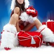 Royalty-Free Stock Photo: Beautiful sexy girl wearing santa claus clothes