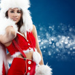 Beautiful sexy girl wearing santa claus clothes — Stock Photo #4244633
