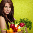 Fruits and vegetables shopping - Stock Photo